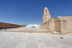 Majestic square in front of the mosque Royalty Free Stock Photo