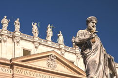 Majestic St. Peter's Basilica in Rome, Vatican, Italy Royalty Free Stock Images