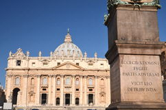 Majestic St. Peter's Basilica in Rome, Vatican, Italy Royalty Free Stock Image