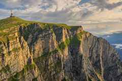 Majestic sunrise in the mountains,Bucegi mountains,Carpathians,Romania Stock Photo