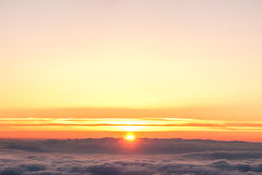 Majestic sunrise over clouds Royalty Free Stock Photo