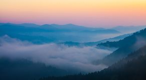 Majestic Sunset In The Mountains Landscape Royalty Free Stock Image