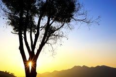 Majestic sunset in mountain landscape Stock Photo