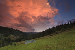 Majestic sunset in the mountains Royalty Free Stock Images