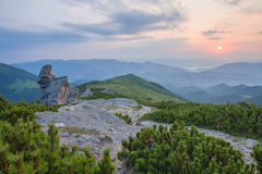 Majestic sunset in the mountains landscape. Royalty Free Stock Images