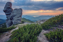 Majestic sunset in the mountains landscape. Royalty Free Stock Photos