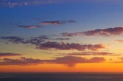 Majestic sunset over Pacific Ocean Stock Images
