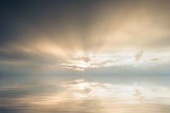 Majestic Sunset Over Sea Royalty Free Stock Photo