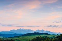 Majestic sunset over Tatra Mountains Stock Image