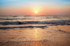 Majestic sunset over water. India, Goa Stock Photo