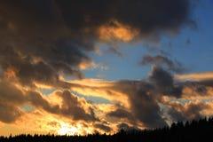 Majestic sunset sky Royalty Free Stock Photo