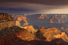Majestic Sunset South Rim Grand Canyon National Pa Royalty Free Stock Photo