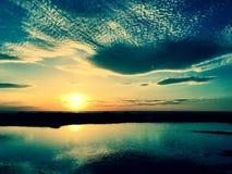 Turquoise masterpiece sunset Stock Photo