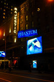 Majestic Theater Broadway, Phantom of the Opera Billboard Stock Image