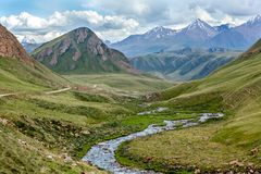 Majestic Tien Shan mountains Royalty Free Stock Photos