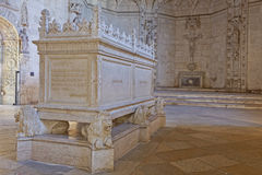 Majestic Tombstone in Jeronimos Stock Photo