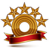 Majestic vector golden ring  on white, 3d Stock Photos