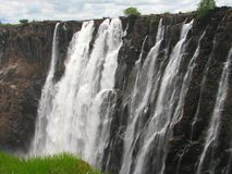Majestic Victoria Falls on Zambezi River Royalty Free Stock Photo