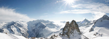 Majestic view. From top of Zillertall ski resort Stock Photos