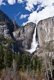 Majestic view of Bridal Veil Falls in Yosemite CA. Yosemite National Park Waterfalls in the springtime Stock Image
