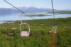 Majestic view from chair lift Stock Photos