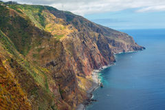 Majestic view of the cliffs, Madeira. Portugal stock photography