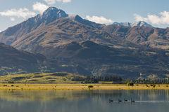 Majestic view of Diamond Lake Stock Photo