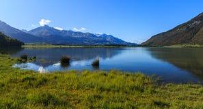 Majestic view of Diamond Lake royalty free stock image