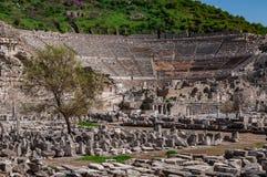 Majestic view of Ephesus Theater, Izmir, Turkey. Majestic view of Ephesus Theater, Ephesus ancient city, Izmir, Turkey stock photos
