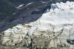 Majestic view of Glacier des Bossons. Alps. Chamonix.  stock image