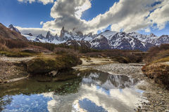 Majestic view of Mount Fitz Roy. Patagonia. Royalty Free Stock Images