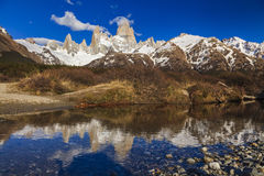 Majestic view of Mount Fitz Roy. Patagonia. Stock Photography