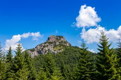 The majestic view of mountain, Northern Slovakia. The forest in the national park Mala Fatra, Slovakia royalty free stock image