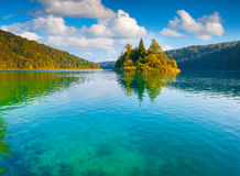 Majestic view of the Plitvice Lakes National Park Royalty Free Stock Photos