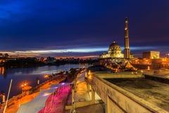 Putra Mosque, malaysia during sunset stock image