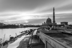 Putra Mosque, malaysia during sunset royalty free stock image
