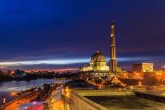 Putra Mosque, malaysia during sunset stock photography