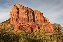 Spiritual and Beautiful Red Rocks. Majestic view of red rock formations thought to hold spiritual power in Sedona Arizona Royalty Free Stock Image