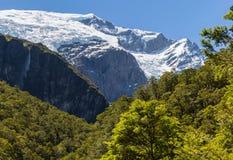 Majestic view of Rob Roy Glacier. Mount Aspiring National Park, New Zealand stock image