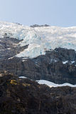 Majestic view of Rob Roy Glacier. Mount Aspiring National Park, New Zealand royalty free stock photos