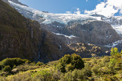 Majestic view of Rob Roy Glacier. Mount Aspiring National Park, New Zealand stock photography