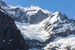 Majestic view of Rob Roy Glacier. Mount Aspiring National Park, New Zealand stock photo