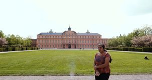 Majestic view of the Schloss Rastatt stock video