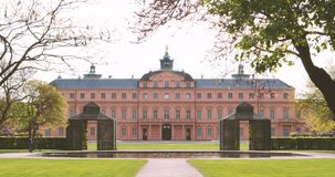 Majestic view of the Schloss Rastatt stock video footage