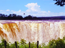 Majestic view with Victoria Falls. Zimbabwe Royalty Free Stock Image