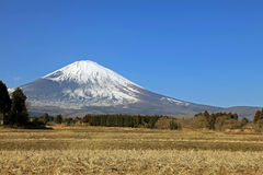 Majestic views of snow covered Mount Fuji, Japan Stock Images