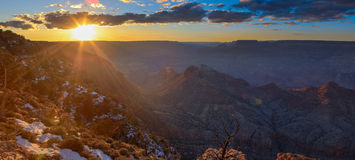 Majestic Vista of the Grand Canyon at Dusk Stock Photography