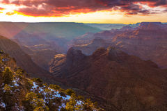Majestic Vista of the Grand Canyon at Dusk Stock Image