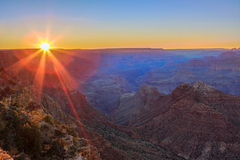 Majestic Vista of the Grand Canyon at Dusk. Beautiful Landscape of Grand Canyon from Desert View Point during dusk royalty free stock photos