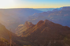 Majestic Vista of the Grand Canyon at Dusk. Beautiful Landscape of Grand Canyon from Desert View Point during dusk stock image
